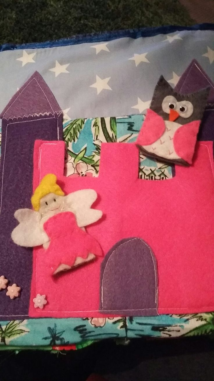 Felt fairy travel book / board