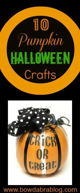 10 Pumpkin Halloween Crafts