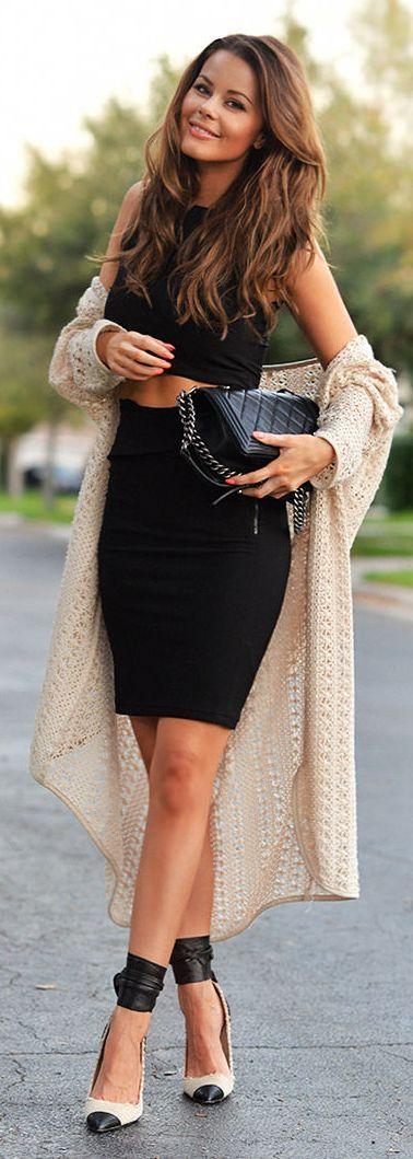 ♥CESPINS♥ Cream Crochet Long Line Cardigan by Stylista