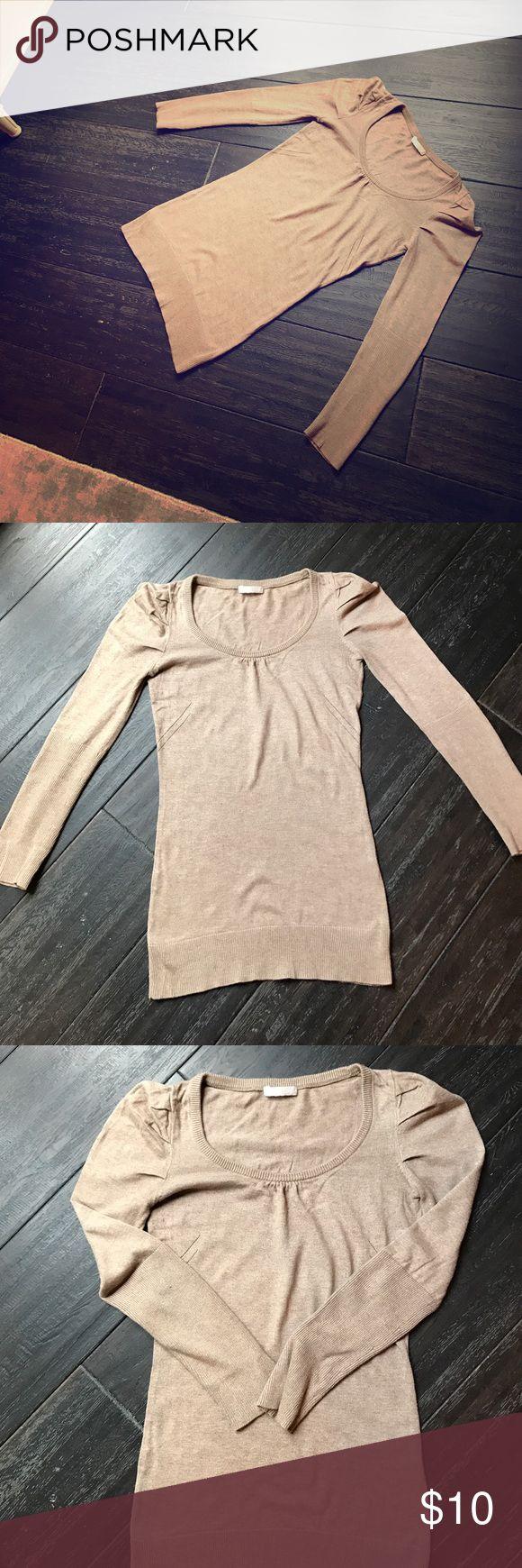 Promod beige sweater Promod Beige sweater. Size small. Sweaters Crew & Scoop Necks
