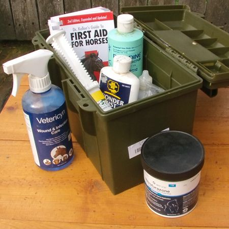 Create a top notch horse first aid kit for every emergency. See what you need for the barn, the horse truck and on the trail.