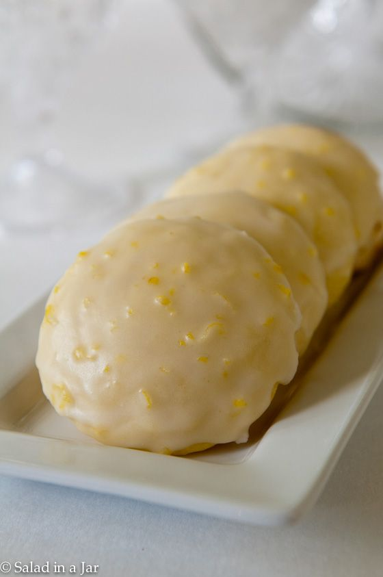 Frosted Lemon Cookies (with Greek yogurt). Another great use for Greek yogurt. Inspired by Giada's Lemon Ricotta Cookies.