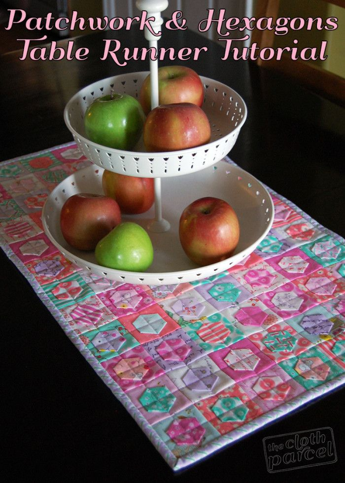Patchwork and Hexagons Table Runner Tutorial