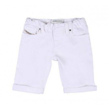 SHORTS DENIM BIMBO DIESEL KID Shorts in denim per bimbi della Diesel in denim super elasticizzato di colore bianco a cinque tasche con elastico in vita e risvoltini sul fondo gamba. Short in denim Diesel Kids comodi e semplici da indossare. #diesel #dieselkid #shorts #shortsdiesel #bermuda #pantaloncini #jeans #babyboy #neonati #bebè #baby #kid #junior #child #children #abbigliamento #clothing #shoponline #ecommerce #fashion #moda #saldi #sconti #promozioni