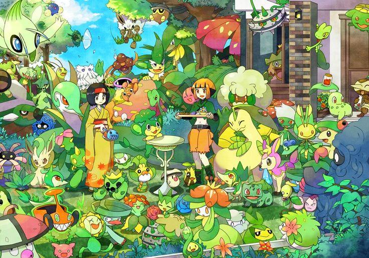 Resultado de imagem para grass pokemon wallpaper