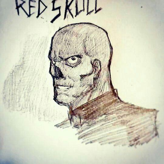 Sketch 4 red skull