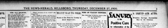 Bones of Giant Race News Herald Dec 27 1900