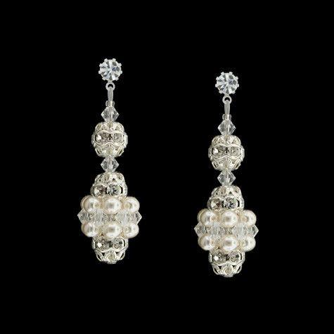 Pearl & Crystal Bridal Earrings | Giavan