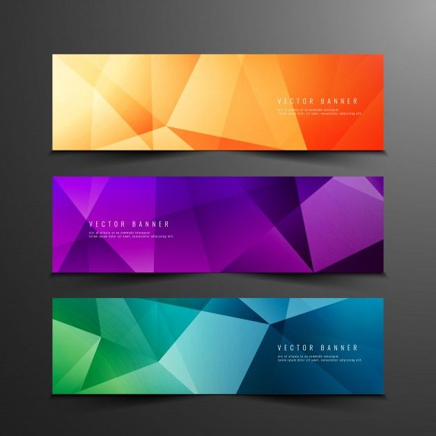 Download Abstract Colorful Polygonal Banners For Free Vector