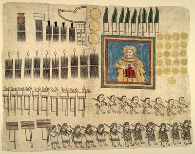 The Huexotzinco Codex was written on amatl (fig) paper in 1531 by Nahua Aztec people from just south of Mexico City.    The 8 page manuscript formed part of a submission in a legal suit against representatives of the Spanish colonial government. They had been forcing the Nahua people to make onerous payments of goods and services while Hernando Cortés (who had rights over the Huexotzinco estates) was out of the country.    Cortés joined the Nahua people in challenging the abuses of the…