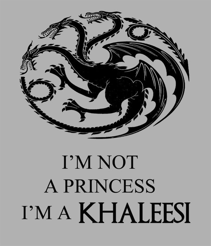 Camiseta chica Juego de Tronos. Khaleesi Im not a princess