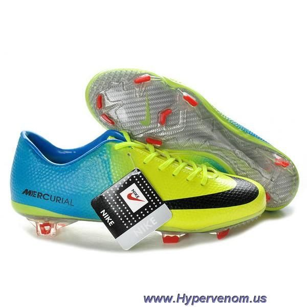 Nike Mercurial Vapor IX Firm Ground Blue Green Black Boots Soccer Shoes On  Sale