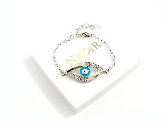 Nazar Armband Silber - Das Auge gegen den bösen Blick - Das Evil Eye Armband in Silber wird in einer Geschenkdose geliefert!