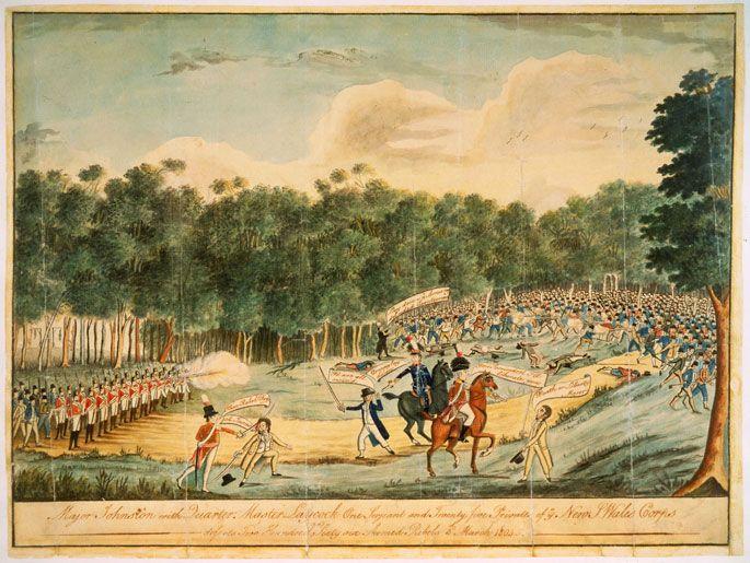 Convict uprising at Castle Hill 1804