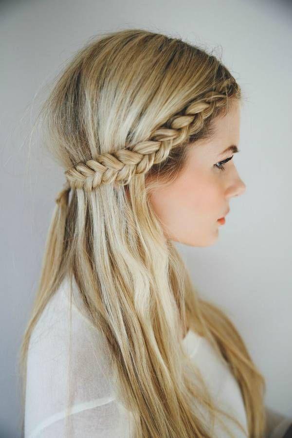 Tresse bandeau sur cheveux longs - 20 idées pour adopter la tresse bandeau - Elle
