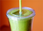 Want to get iron without swallowing a horse pill? Make a spinach smoothie.