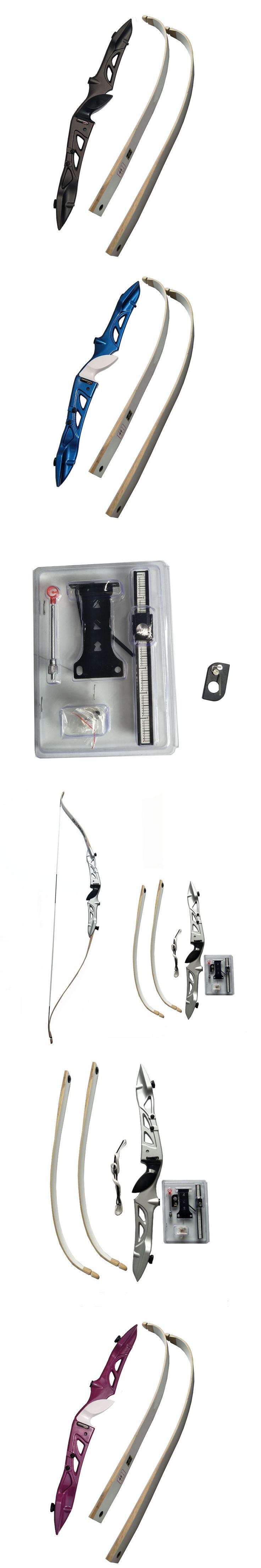 66inch Recurve Bow Draw Weight 16lbs to 40lbs Longbow Aluminum alloy Bow Hand a Recurve Bow Sight and Arrow Rest