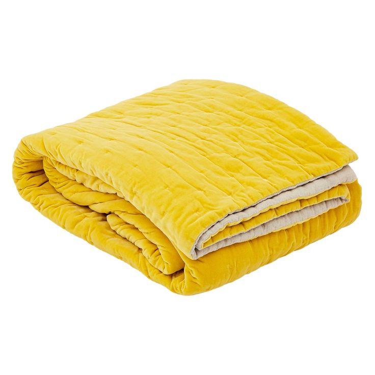 Velvet End Of Bed Quilt Chartreuse