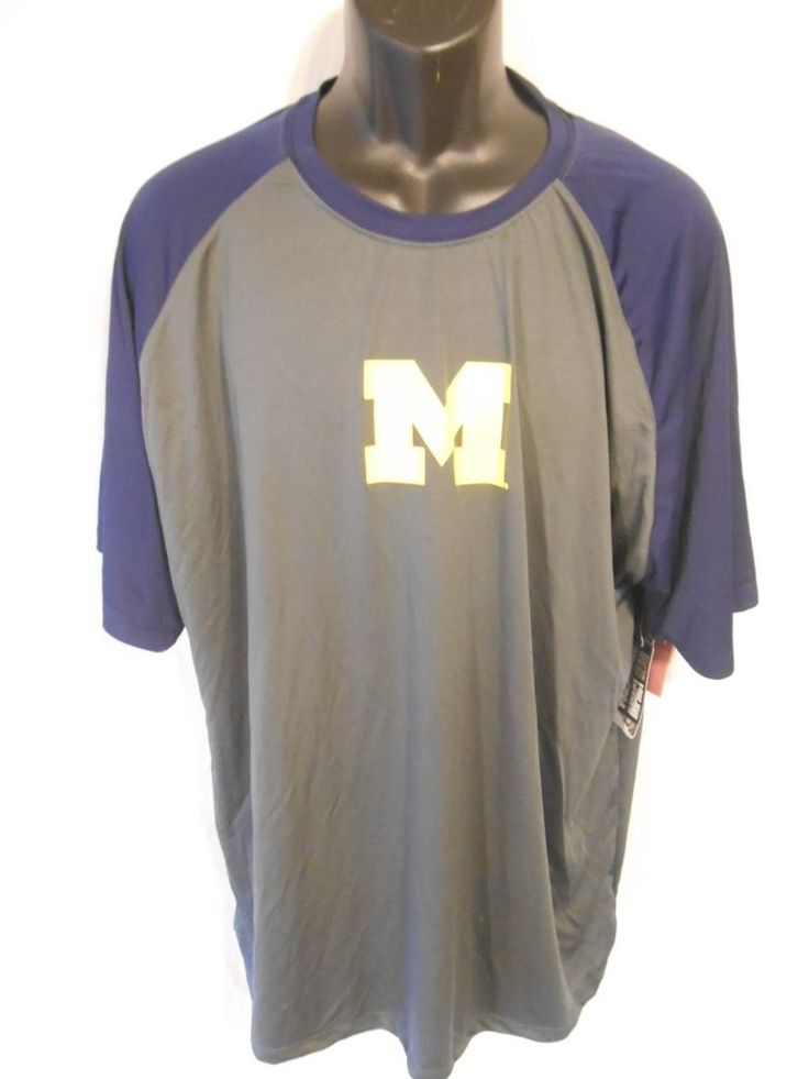 """PRO Edge """"Michigan"""" Polyester 2XL Big M Rugby NEW With Tags #ProEdge #PoloRugby"""