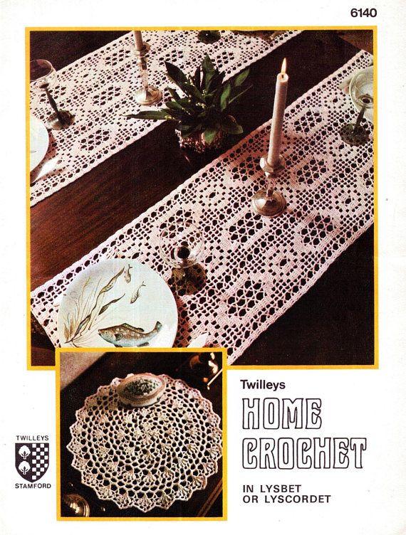 PDF Vintage 1950s Twilleys 6140 Doily Crochet Pattern