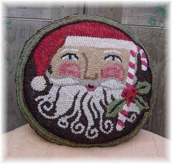 The Country Cupboard Santa Joys Pillows Hooked Rug Hooking PAPER Pattern Christmas Decor on Etsy, $7.52 CAD