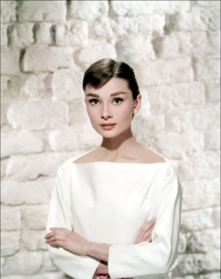 Audrey Hepburn and her timeless boatnecks......so chic.