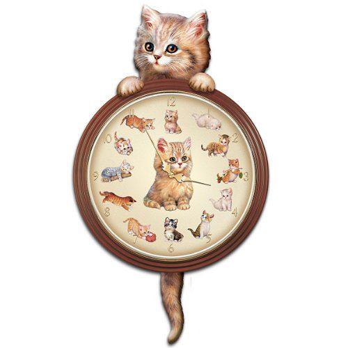 Purr-Fect Times Cat Art Decorative Wall Clock by The Brad... http://www.amazon.com/dp/B001SJ9OMC/ref=cm_sw_r_pi_dp_1ISmxb0EXX174