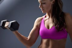 These 7 dumbbell exercises together workout all the major muscle groups including the triceps, biceps, shoulders, chest, abs, back, glutes, thighs and legs.