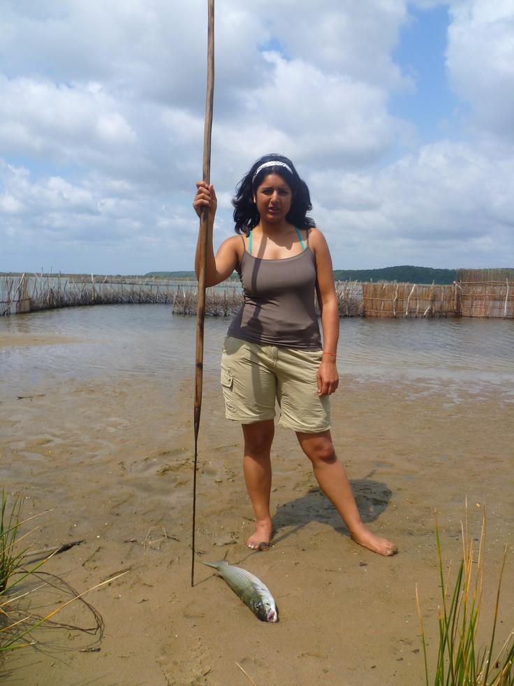 Spear fishing in Kosi Bay in northern Kwa-Zulu Natal, South Africa.