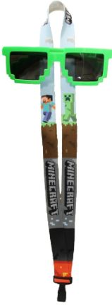 For a DIY Minecraft Easter Basket: Minecraft Cloth Lanyard & Pixelated Sunglasses (set of 2 items) @ Amazon