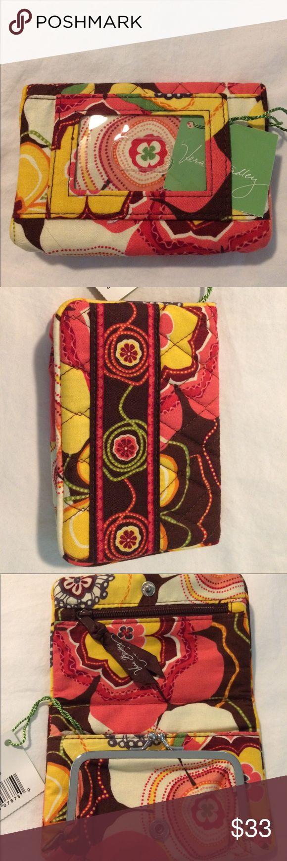 "Vera Bradley wallet ""One for the Money"" Buttercup NWT Vera Bradley wallet ""One for the Money"" in Buttercup pattern. Vera Bradley Bags Wallets"