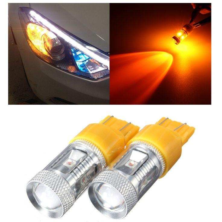 30w 7443 7440 ámbar de alta potencia LED bombillas de luz indicadora de intermitencia ámbar