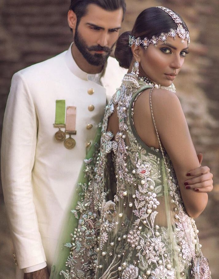 Modern Desi bridal couture.  Pakistani wedding outfit