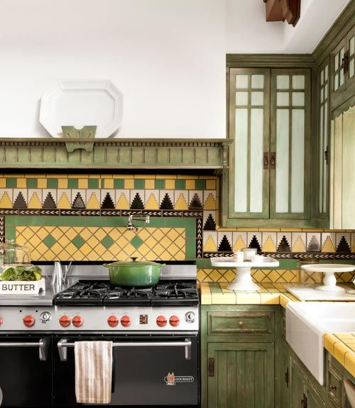 Green Kitchen Backsplash Ideas: 1176 Best Images About Craftsman Style(Bungalows