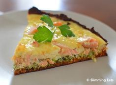 Slimming world salmon and broccoli quiche... feeling Sprintime already!