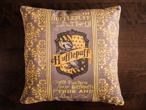 17 x 17 Hufflepuff (only hufflepuff) sofa throw pillow cover - No pillow insert included, pillowcase only - Hidden zipper enclosures on bottom