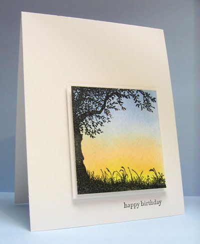 Sunrise silhouette by Heather T - Cards and Paper Crafts at Splitcoaststampers