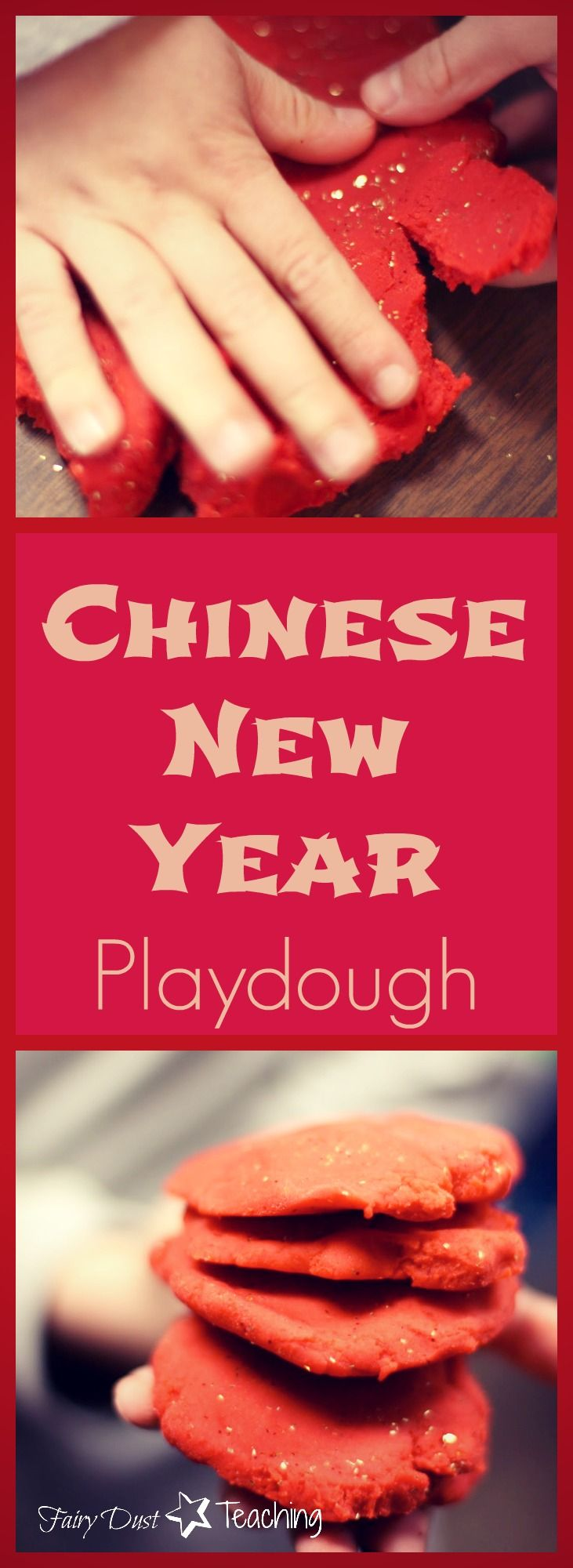 Celebrating the Chinese New Year just got even luckier! Learn how to create this Chinese New Year Lucky Playdough that is sure to delight your students at fairydustteaching.com!
