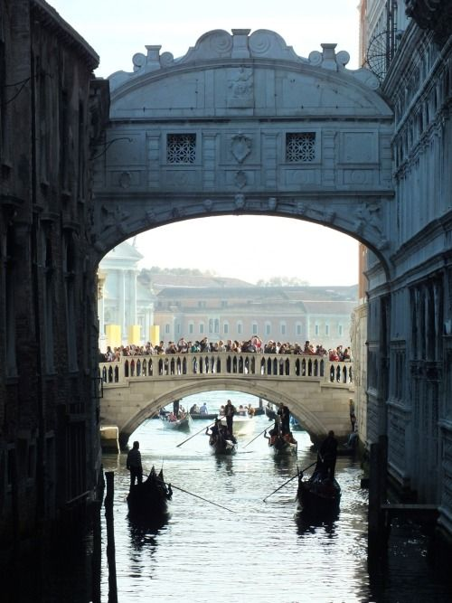 step-out-into: VENICE, Bridge of Sighs - Follow for more like...