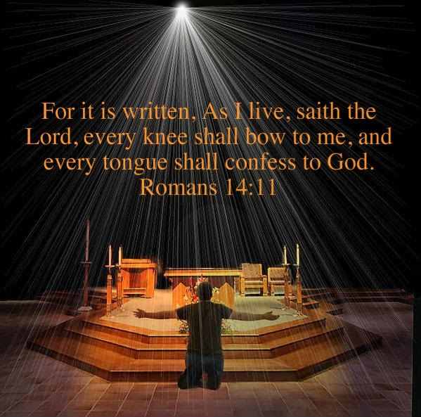 every knee will bow down and every tongue will confess that jesus christ is lord of all every