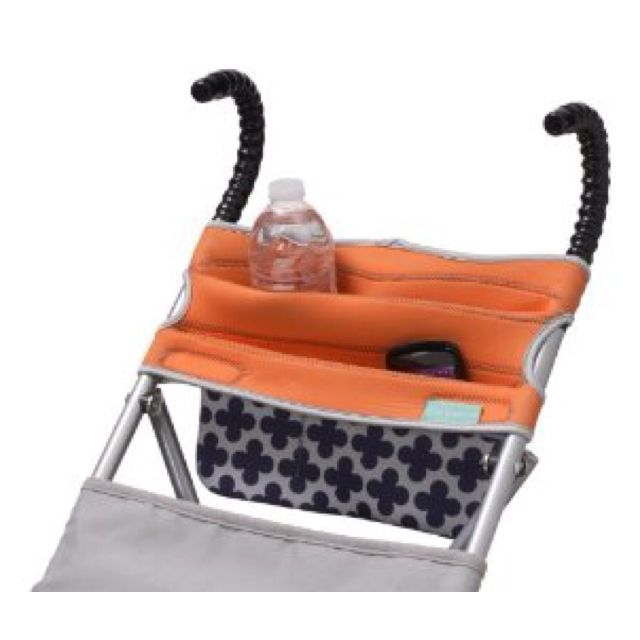 The Infantino Stretch storage system for umbrella  strollers: Strollers Organizations, Cups Holders, Stroller Storage, Stretch Umbrellas, Infantino Stretch, Umbrellas Strollers, Kid, Baby Stuff, Strollers Storage