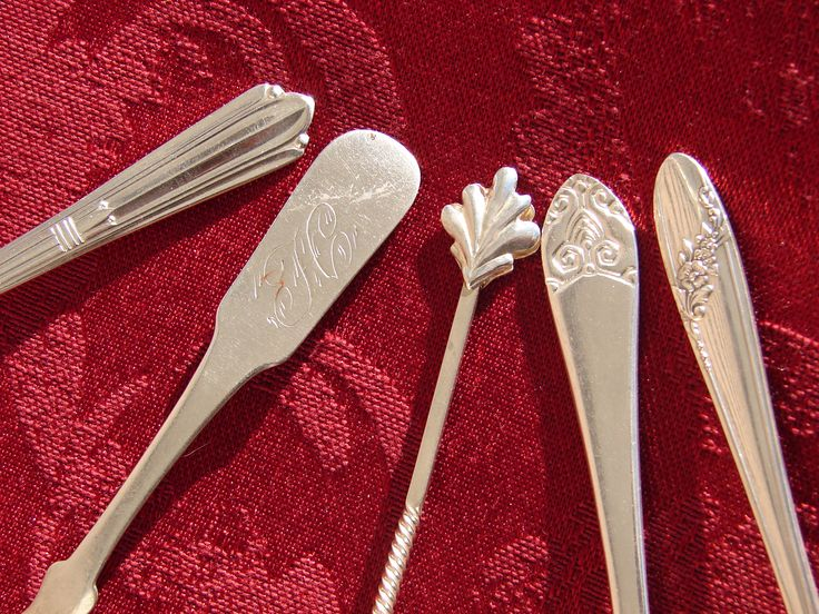 Sterling Salt Shovel, Coin Silver Salt Spoon, and Antique Silver Demitasse Spoons, Rare Silver Spoon Collection by BackStageVintageShop on Etsy