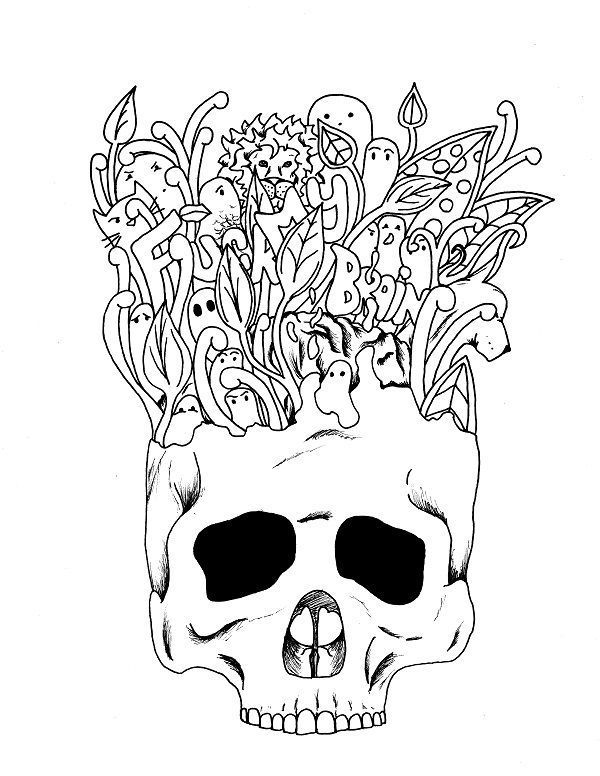 Fuck my brain - Adult Coloring page - swear. 14 FREE printable coloring pages, Visit swearstressaway.com to download and print 14 swear word coloring pages. These adult coloring pages with colorful language are perfect for getting rid of stress. The free printable coloring pages that are given change, so the pin may differ from the coloring pages give at swearstressaway.com - Sweary sketches #coloring #skull