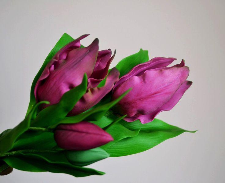 gumpaste tulips