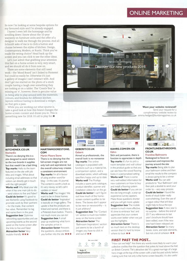 Check out Martin Moore's new and improved wedbsite: www.martinmoore.com Essential Kitchen & Bathroom Business February 2018