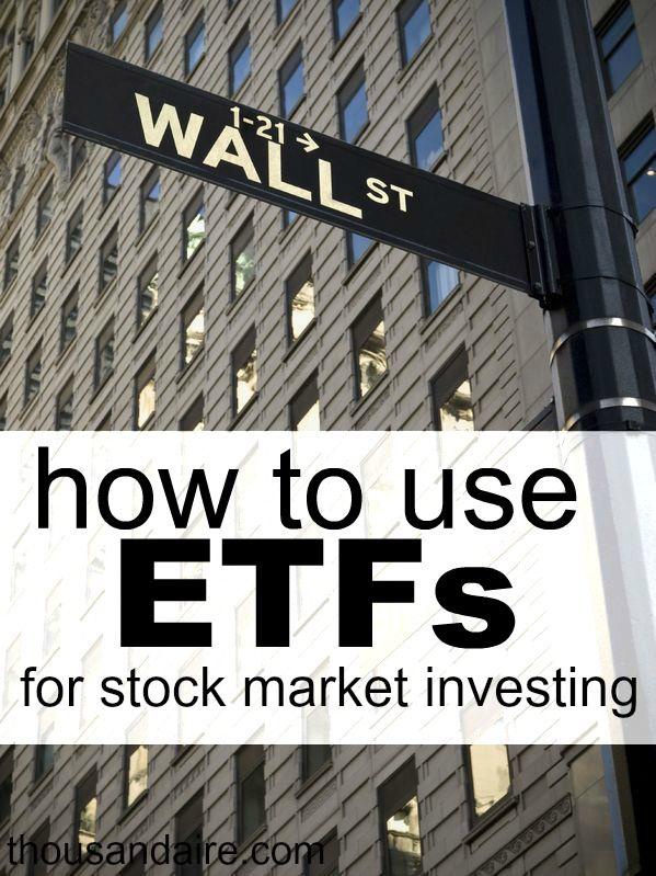 Using Etfs For Stock Market Investing Stock Market Stock