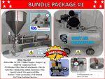 Jet Bundle Package #1 Single Head Piston Filler-7 Gallon Hopper-Hopper Cap-Quiet Air Compressor 1xM