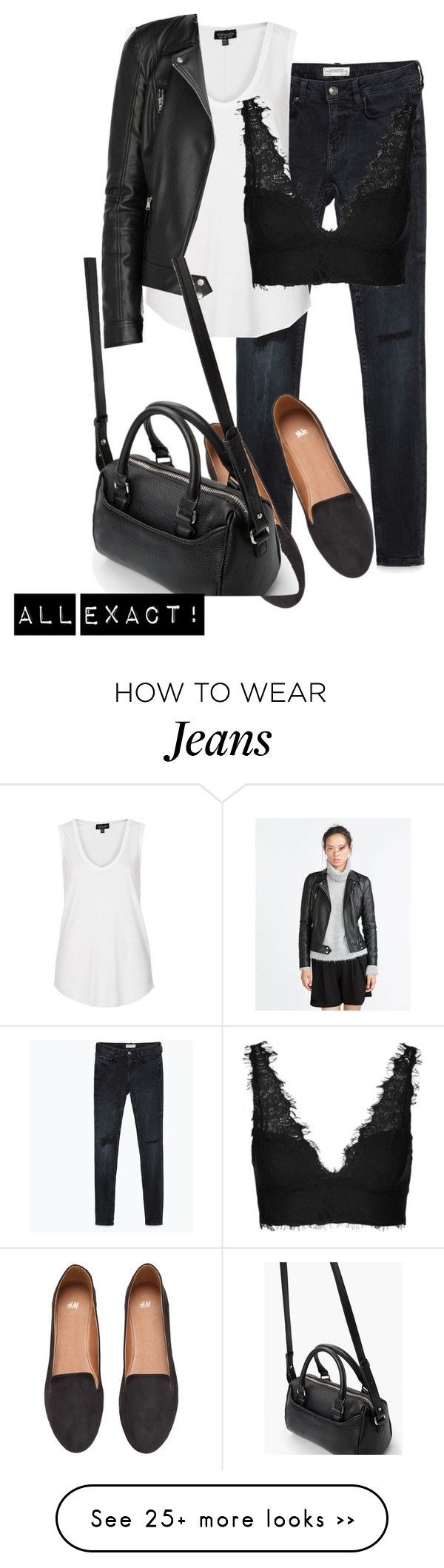 """OOTD"" by beatifuletopshop on Polyvore featuring Zara, Topshop, H&M and MANGO"