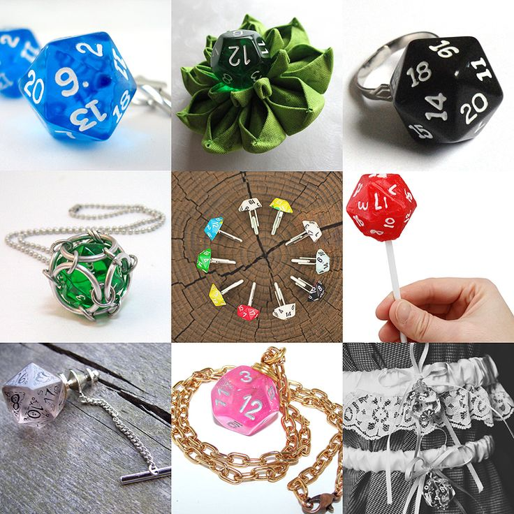 Geeky goodies - dice! Perfect accessories, favors, and more for a gaming wedding. [via Nerd-Weddings.com]