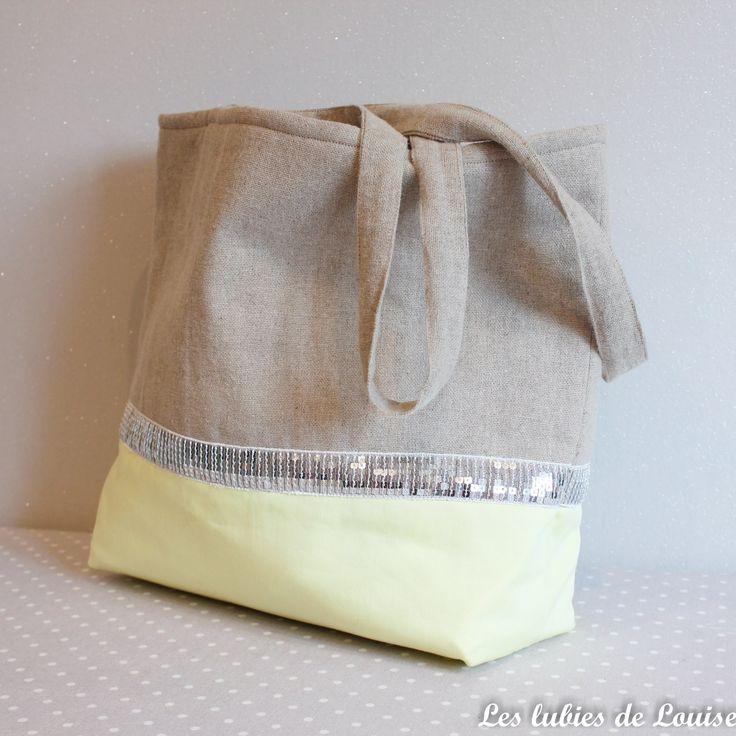 DIY Un Tuto couture, le sac de plage sur les lubies de louise. (http://leslubiesdelouise.com/2016/07/12/le-cabas-bicolore-pour-la-plage-diy/)